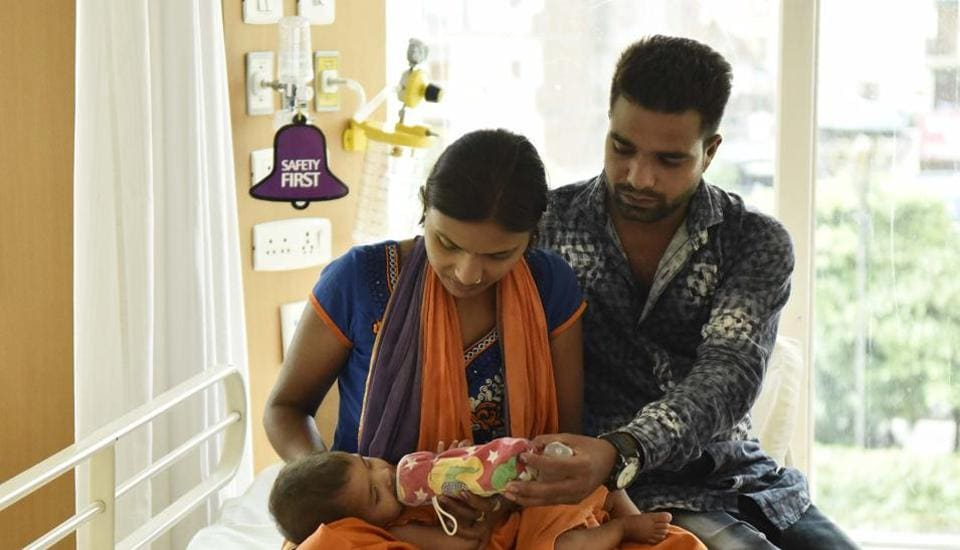 Eleven-month-old child Tanishka Shirvastav suffers from a serious congenital heart condition.