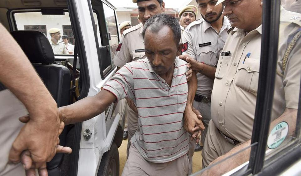 Ashok Kumar, who is accused of murdering a student of Ryan International School in Gurgaon, is arrested by the police.