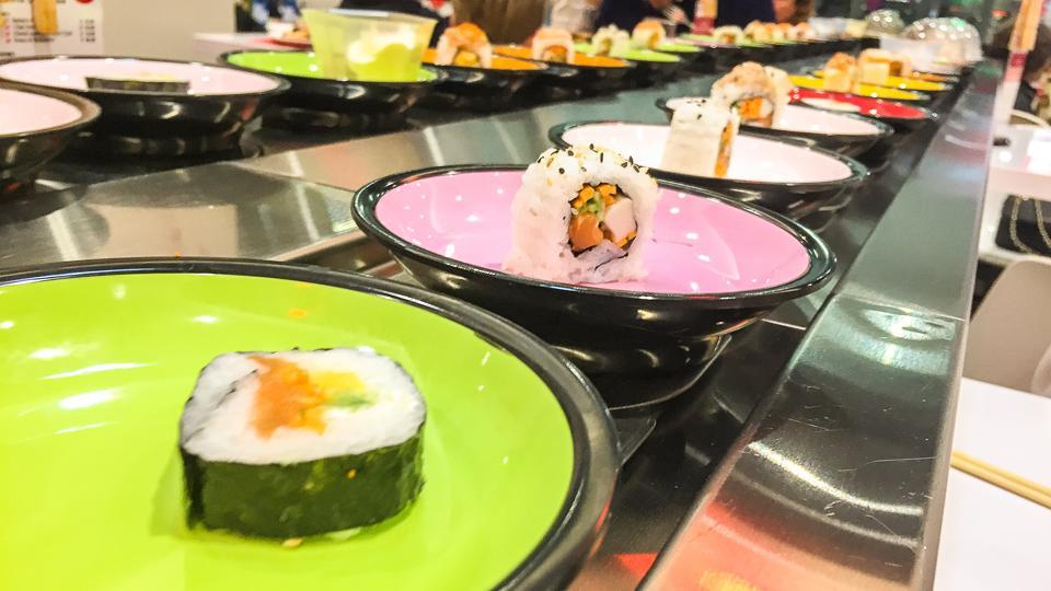 A sushi bar chain. The Japanese food – raw fish wrapped in rice – will be available to the community in India all the way from their homeland through the proposed 'cool box service'.