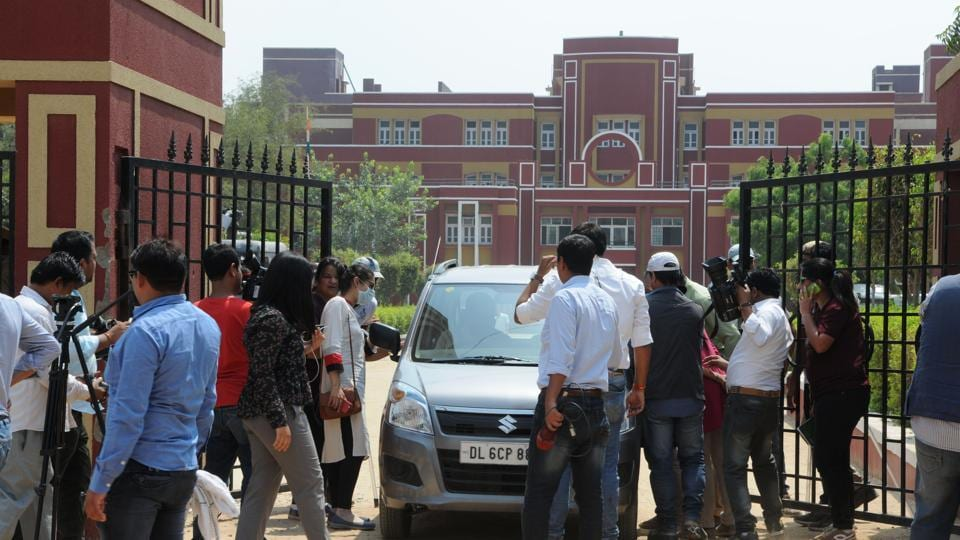 CBSE team and forensic expert arrive in Ryan International School Bhondsi for investigation, in Gurgaon, on Wednesday.
