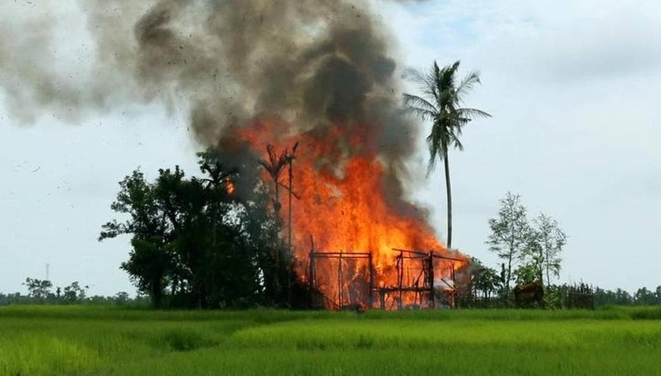 """Amnesty International released fresh satellite images Friday of burned villages in Rakhine state, alleging Myanmar's security forces have led """"systematic"""" clearances of Rohingya Muslim settlements over the last three weeks."""