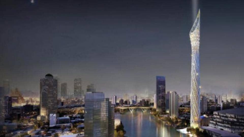 The Bangkok Observation Tower is designed to evoke a burning candle.