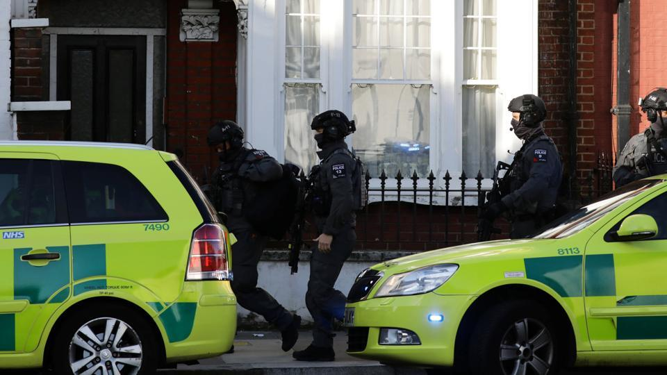 An explosion on a London underground train on Friday morning left several passengers with burn injuries on the face and hair on fire. Heavily armed police were seen rushing to the Parsons Green station on the District line, said media reports. 'We are aware of an incident at Parsons Green tube station. Officers are in attendance,' London police said on Twitter. (Kevin Coombs / REUTERS)