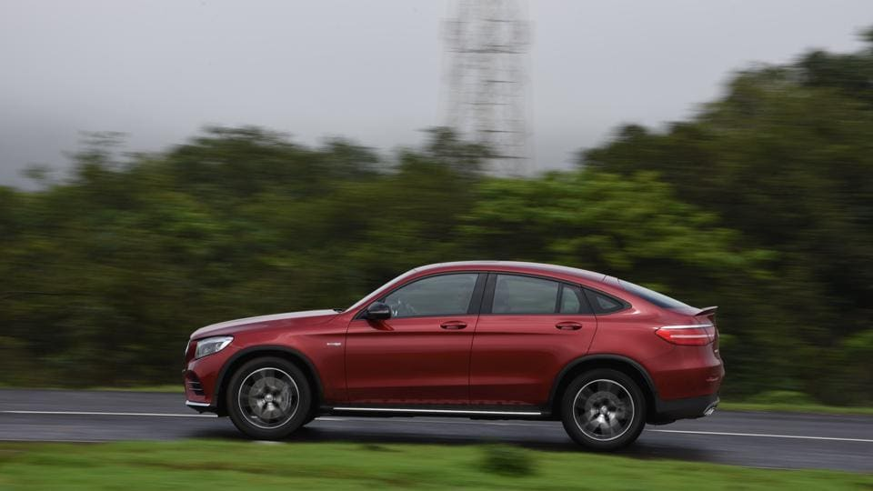 The GLC 43 looks decidedly sportier than the standard SUV.
