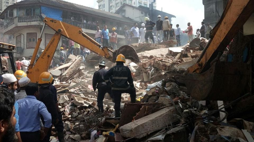 The building collapsed on August 31.