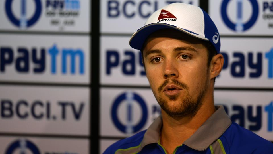 Australian cricketer Travis Head briefs the press ahead of the first ODI beginning on September 17 against India in Chennai. (AFP)