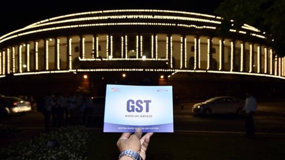 New Delhi, India - June 30, 2017: Special session for the GST launch at Parliament House in New Delhi on June 30, 2017 (Photo by Arun Sharma/ Hindustan Times)
