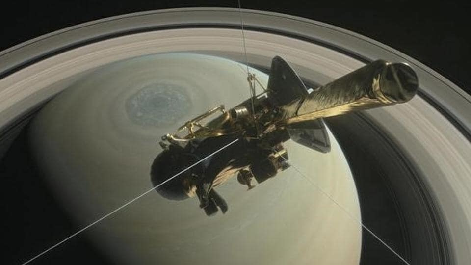NASA's Cassini probe on swan dive towards Saturn
