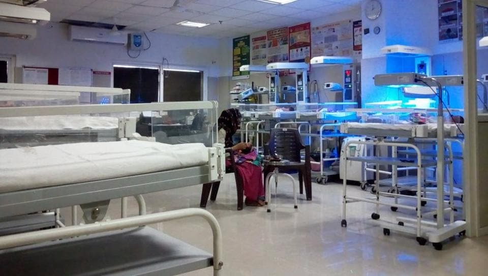 The neo natal care ward at district women hospital where the newborn of the girl was admitted.
