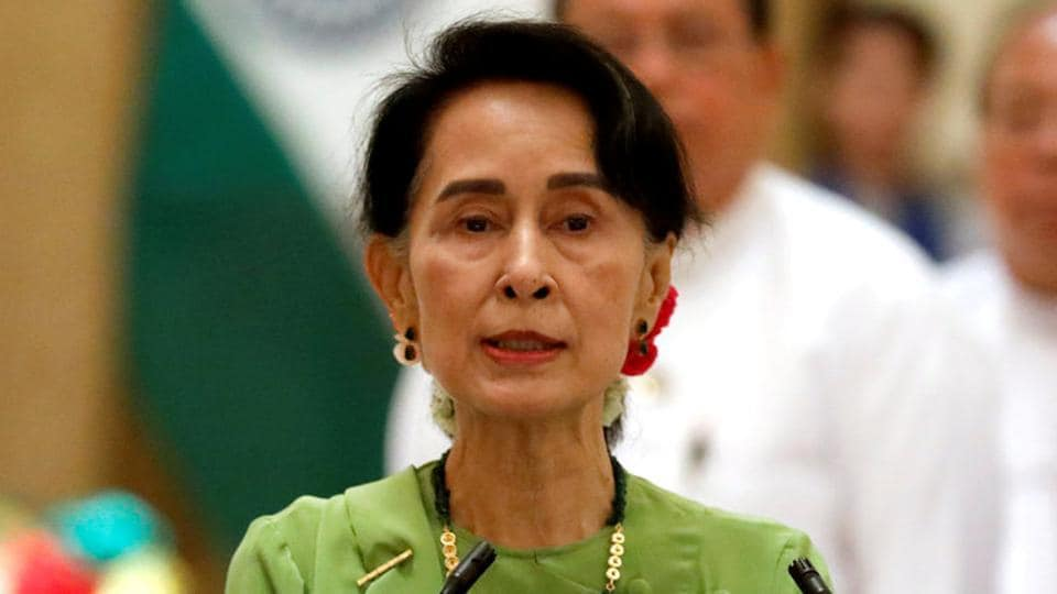 Myanmar's civilian leader Aung San Suu Kyi.