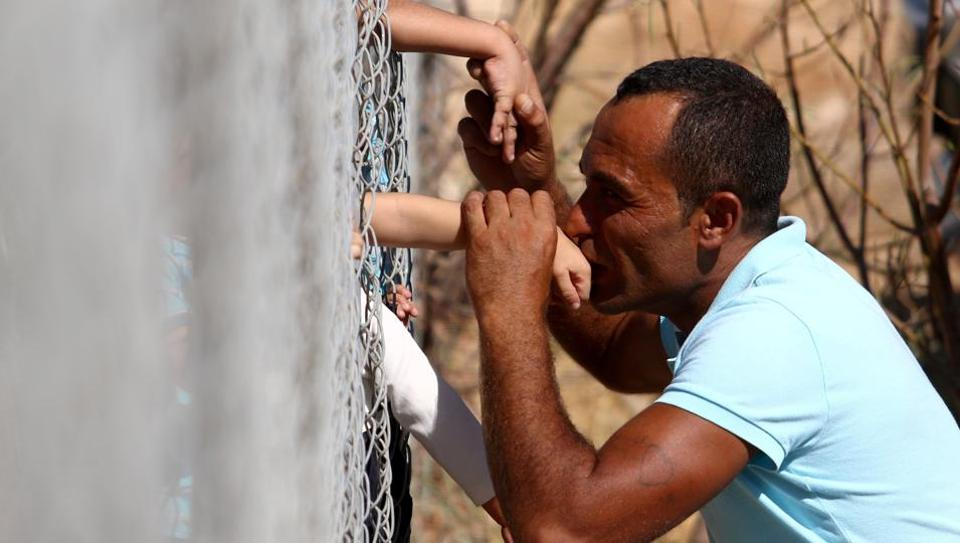 Ammar Hammasho had been a worker in Cyprus before returning to Syria in 2008. He married, raised a family and built a home and field to work in. Separated by the war and losing all back home, he finally managed to meet his family.