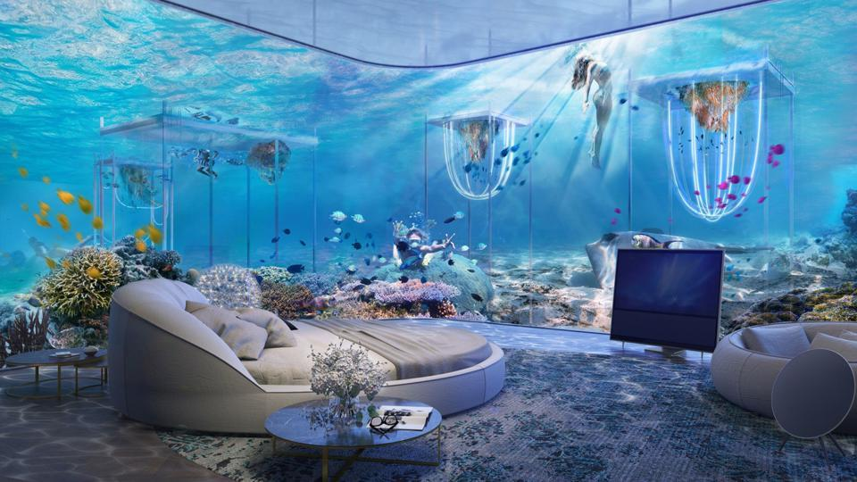 More than 400,000 square feet of corals will be planted around the resort to promote the growth of marine life and coral reefs.