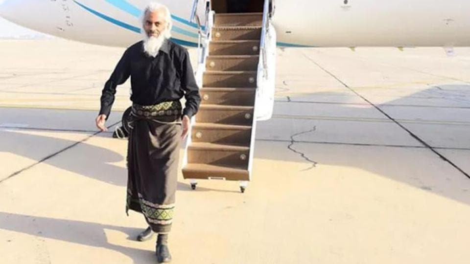 Father Tom Uzhunnalil after his rescue.