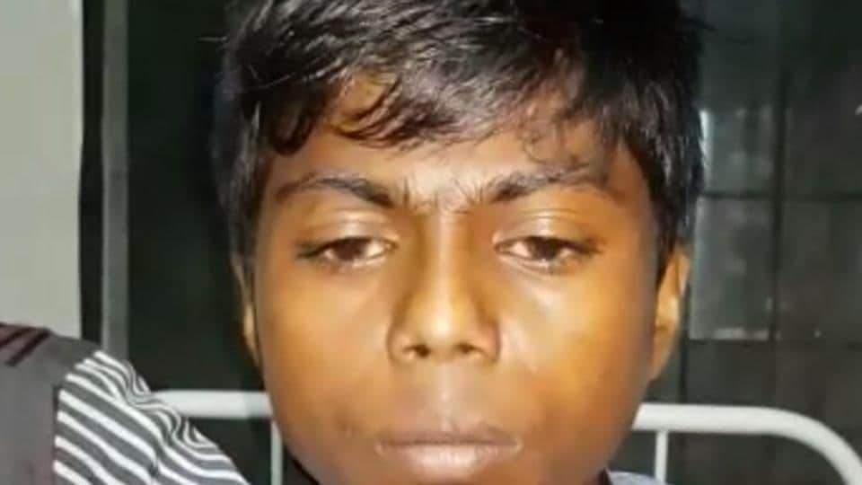 Nilesh Mathera, 15, was admitted to a hospital in Kasa