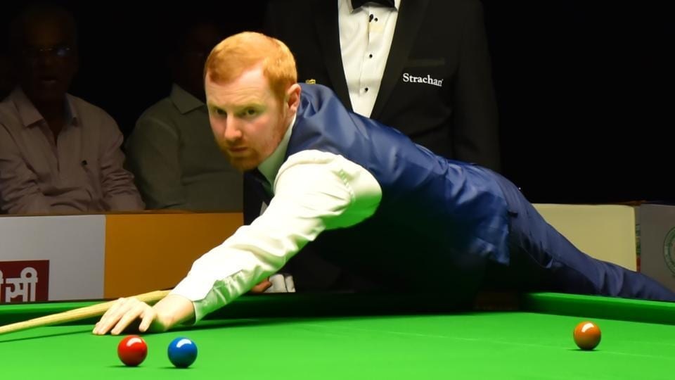 Defending champion Anthony McGill (in pic) beat England's Mark King 4-3 on Day 5 of the Indian Open Snooker.