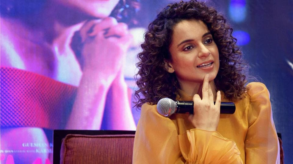 Kangana Ranaut during the promotion of her new movie Simran in Bengaluru on Tuesday.