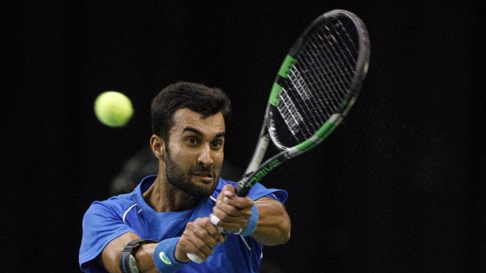 However, Yuki Bhambri fought back and won the next two sets to take the game to a fifth and final set.  (AP)