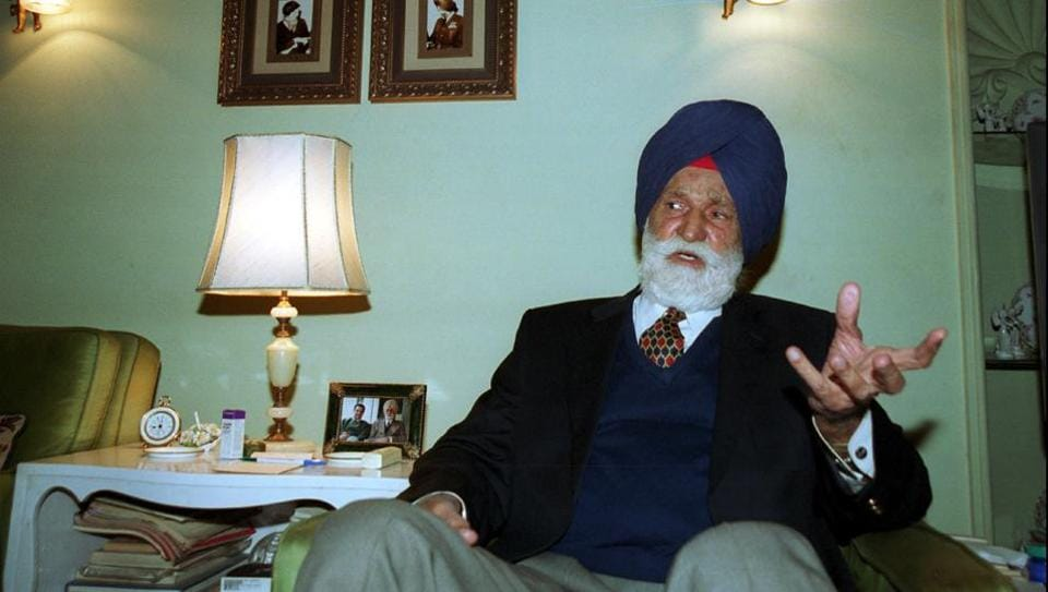 File photo of Marshal of Indian Air Force Arjan Singh.