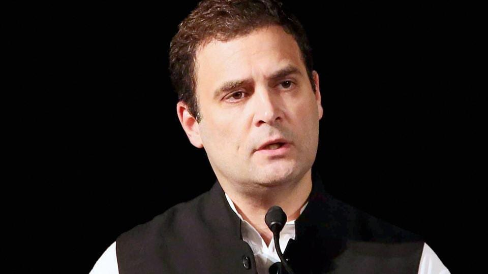 Congress Vice President Rahul Gandhi delivering a speech at Institute of International Studies at UC Berkeley, California on Monday.