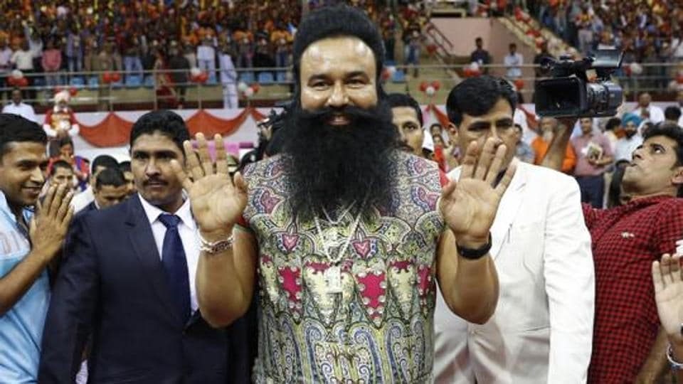 Gurmeet Ram Rahim Singh appeared for Saturday's hearing via video conference from his prison in Rohtak