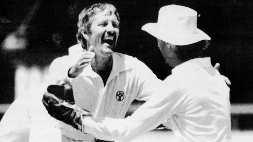 Bob Holland (L) played 11 Tests and two ODIs for Australia.