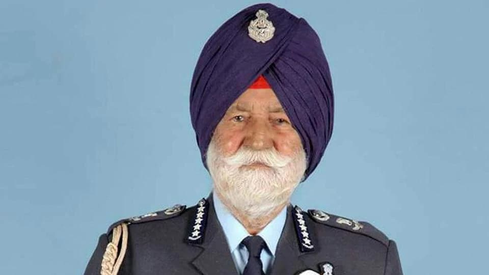 File photo of Marshal of the Indian Air Force Arjan Singh who passed away at the age of 98.