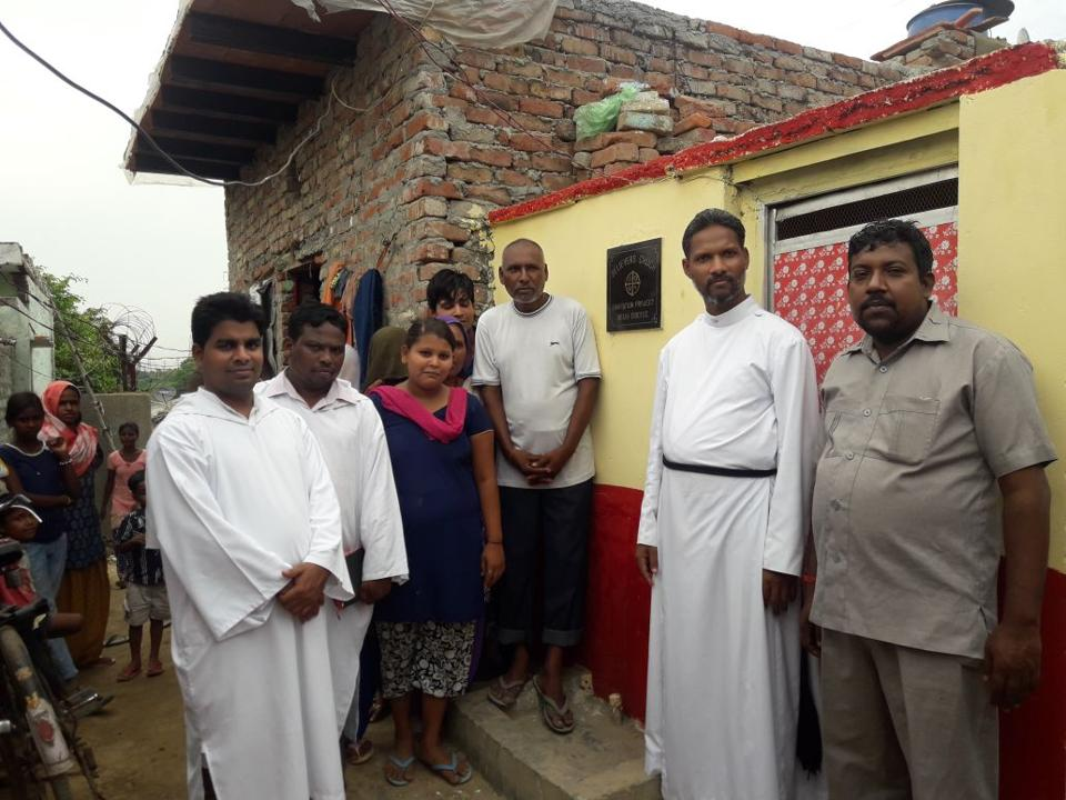 Believers Church started toilets for poor families in Noida.