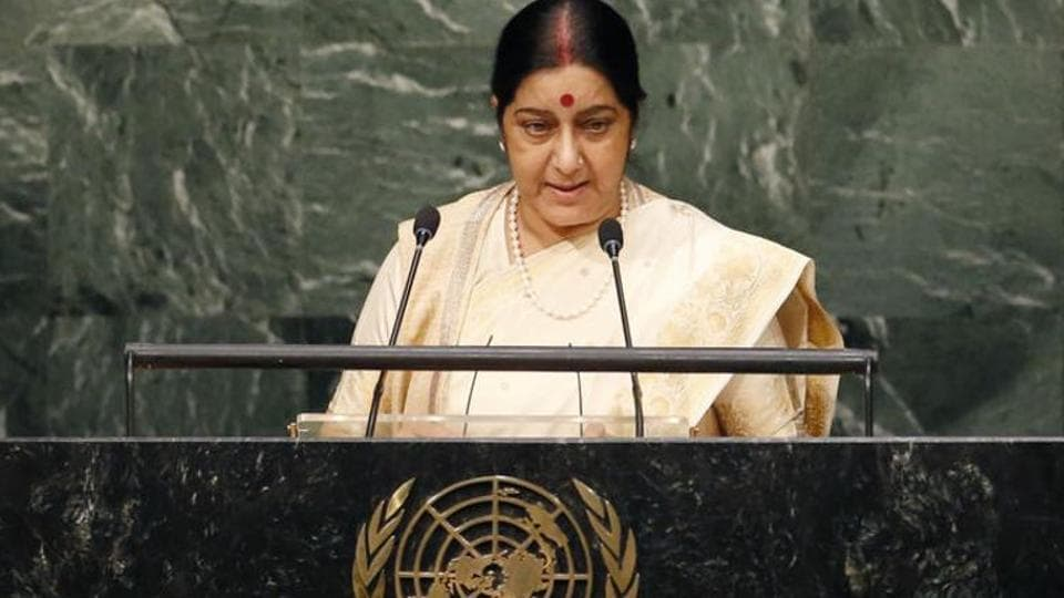 Sushma Swaraj,Pakistani foreign minister,United Nations