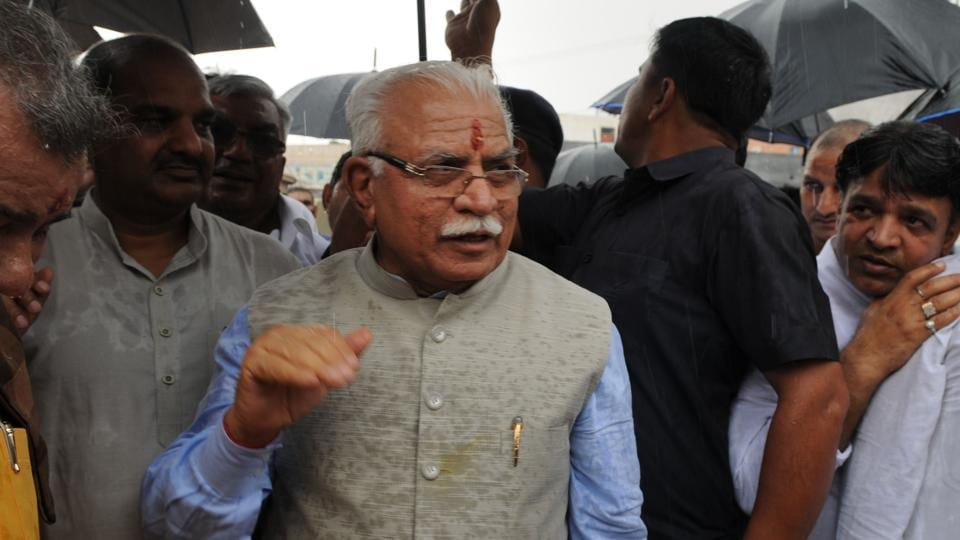 Chief minister Haryana Manohar Lal Khattar