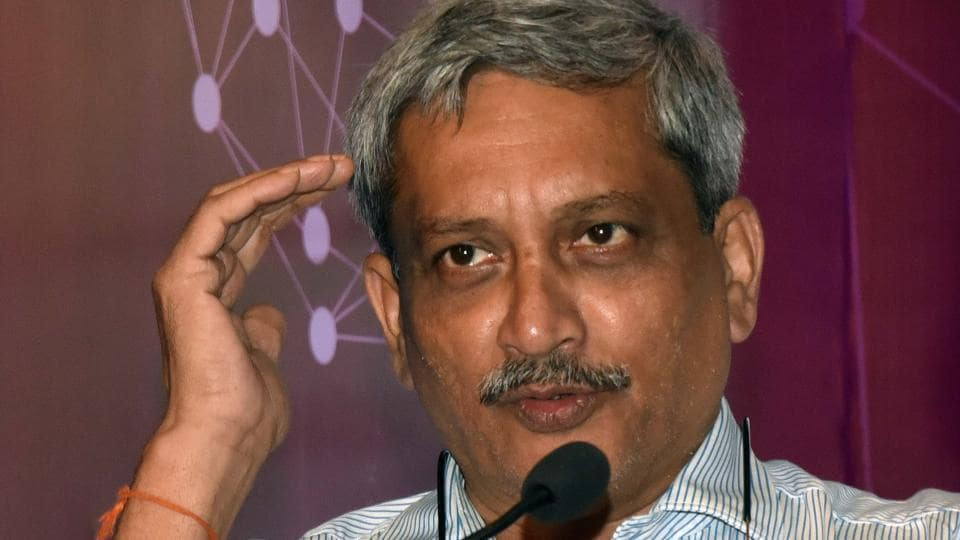 Goa chief minister Manohar Parrikar at function in Pune on Saturday.