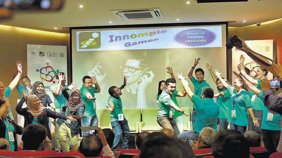Young people from several countries participated in the first edition of the Innompic Games held at COEP in Pune on Sunday.