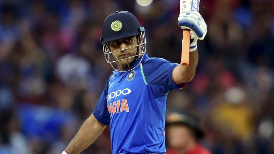 MS Dhoni ultimately was out for 79 as India posted 281/7 in 50 overs.  (PTI)