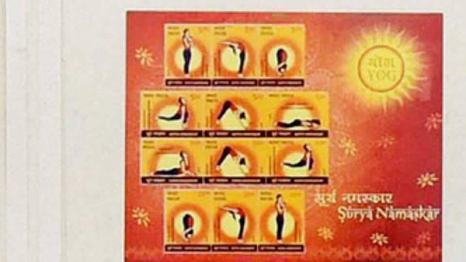 Prime Minister Narendra Modi had released commemorative postage stamps in India on Surya Namaskar ahead of the International Day of Yoga in 2016.