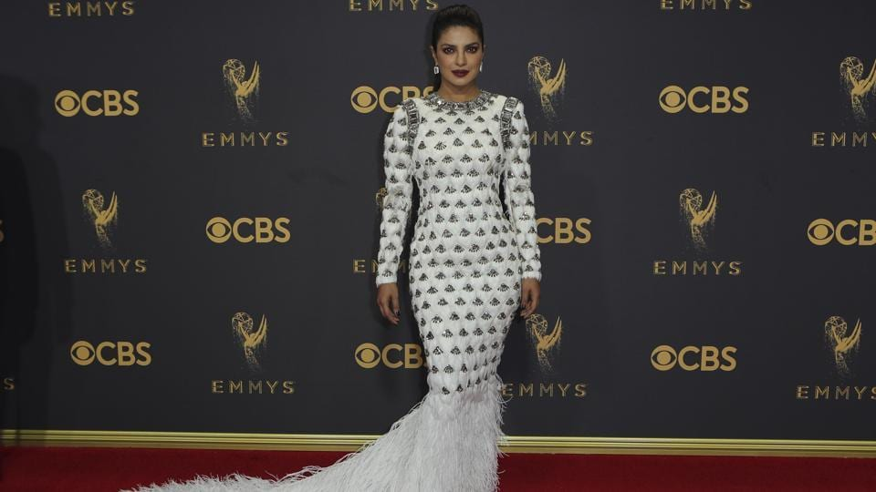 Emmys 2017: Priyanka Chopra is a fierce goddess in this feathered dress