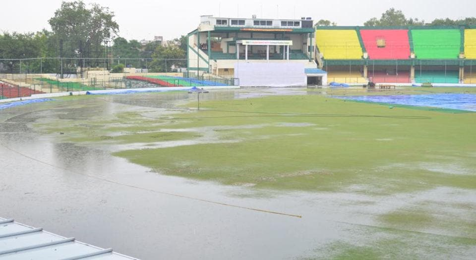 The absence of proper cover has seen the Green Park outfield being completely flooded, threatening the India Red vs India Green crucial Duleep Trophy match scheduled to start on Tuesday.