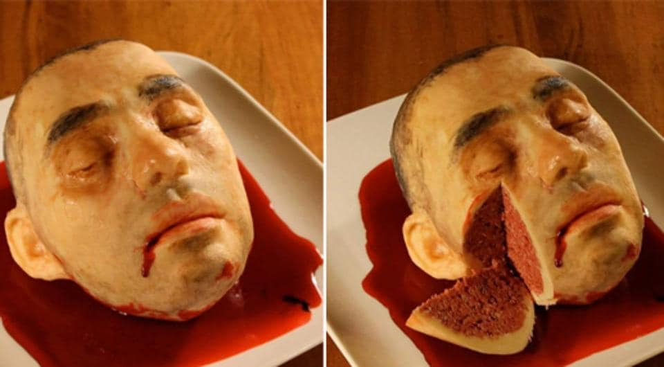 New York-based cake artist Katherine Dey uses cakes as her canvas to create grotesque scenes that taste wonderful.