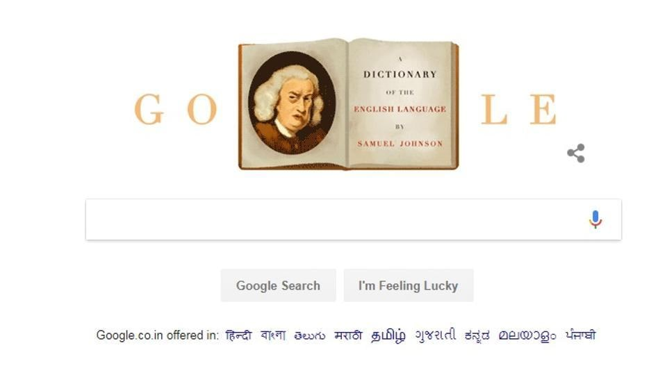 Google Doodle,Samuel Johnson,Dr Samuel Johnson