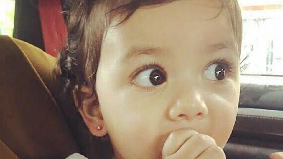 She is just turned one and she already has got her ears pierced!