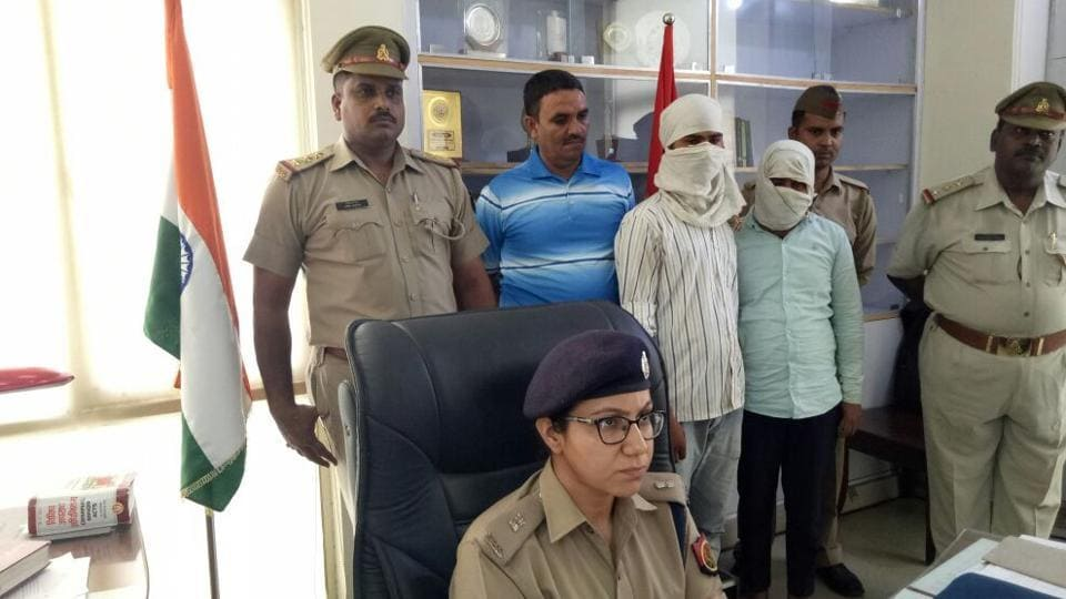 Noida police arrested two persons in connection with murder of a man in Devla village.