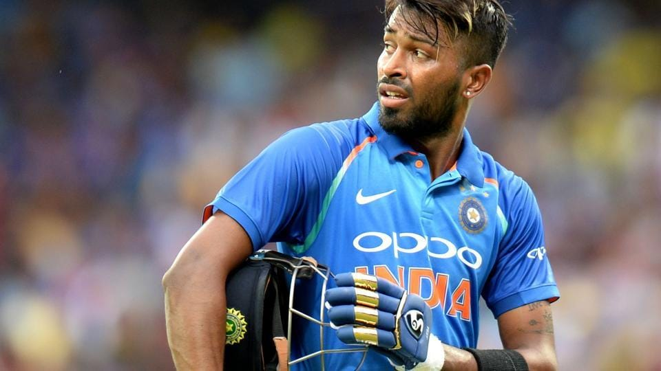 Indian cricket team all rounder Hardik Pandya walks back to the pavilion after scoring a career-best 83 off just 66 deliveries against Australia cricket team in the 1st ODI in Chennai. One can clearly make out the Mumbai Indians team colours in the gloves he used during the knock.