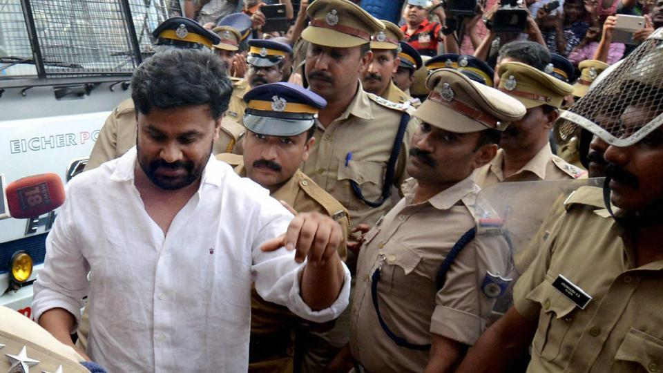 Malyalam actor Dileep being sent to judicial custody in July after a court rejected his bail plea in connection to his alleged involvement in the abduction and sexual assault on an actress, in Kochi.