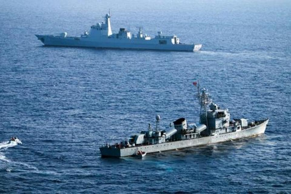 (In a show of naval force, various countries have challenged Beijing by conducting drills in the South China Sea.