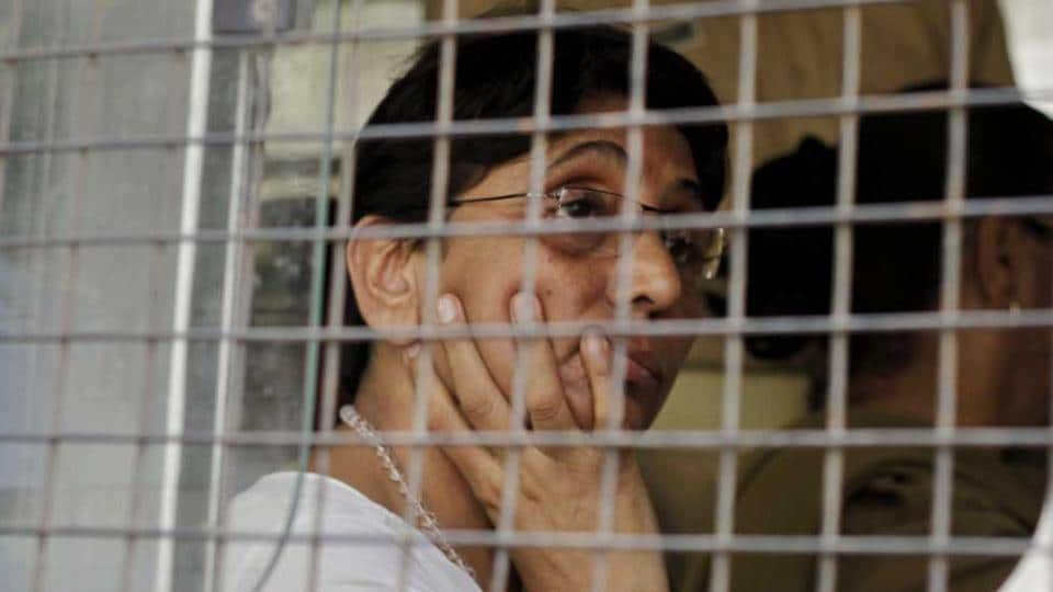 A file photo of former Gujarat minister and BJP leader Maya Kodnani arriving at a special court in Ahmedabad.
