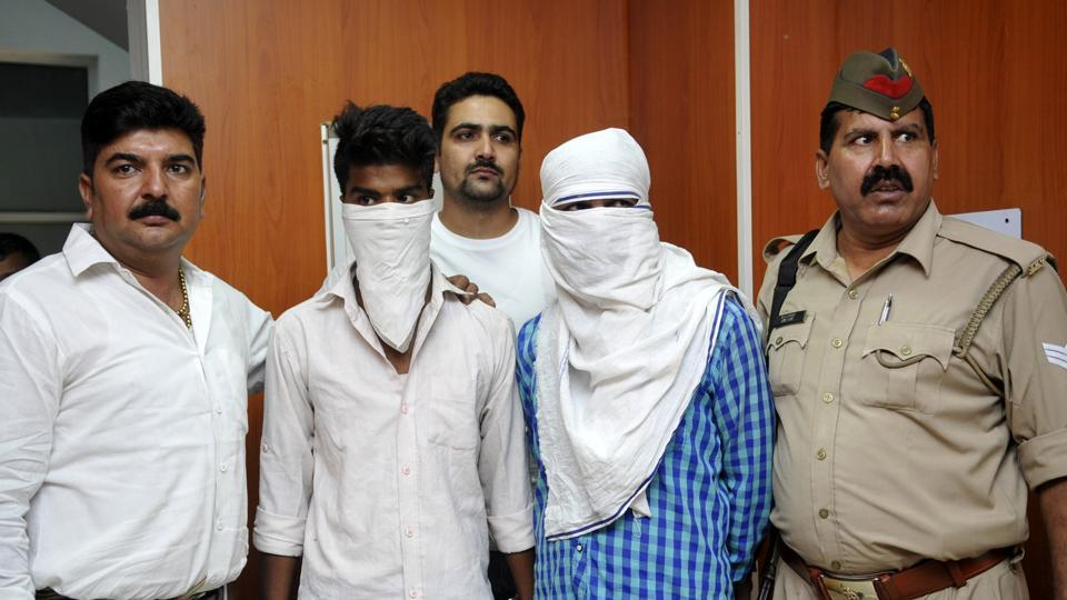 Two persons have been arrested by police in connection with murder of a woman in Salarpur.