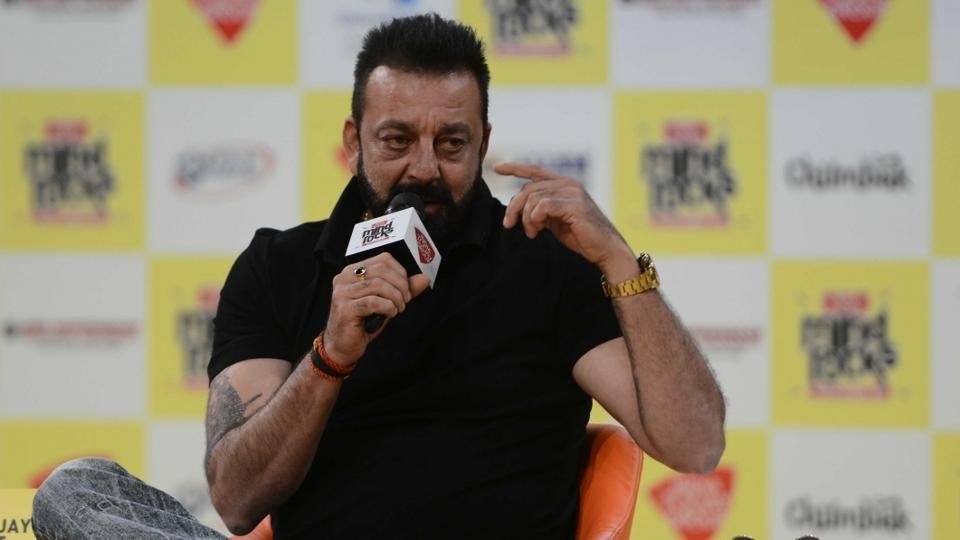 Actor Sanjay Dutt during the India Today Mind Rocks Youth Summit in New Delhi on Sept 16.