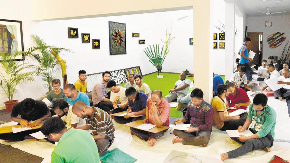 The art school inside Delhi's Tihar Jail is quite a plush place — it has classrooms with projectors, workshop rooms, a sculpture studio, a gallery with track lighting, a foyer and a lawn in the front.