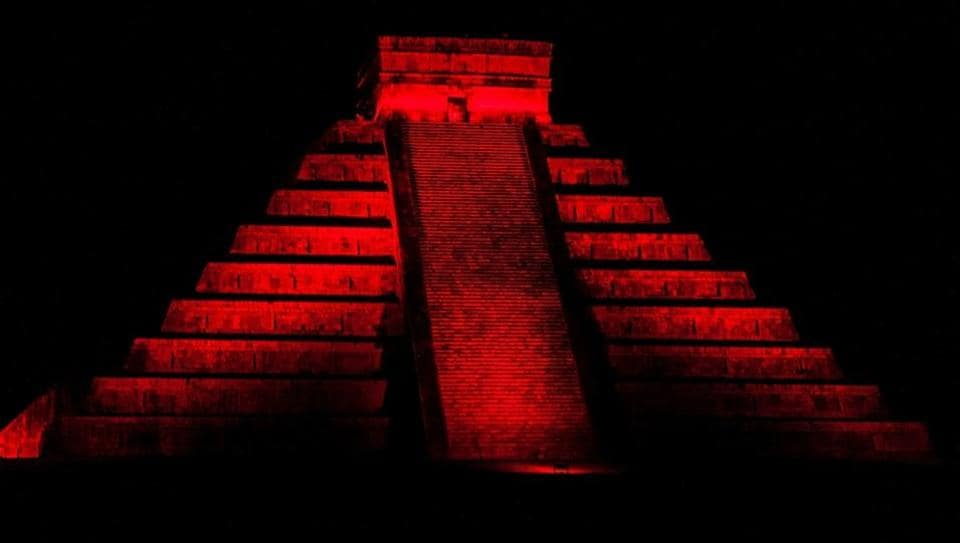 Night view of Kukulkan pyramid in ancient Mayan city Chichen Itza, Mexico. Mexico became the eighth most-visited country in the world last year, according to the World Tourism Organization, with 35 million international arrivals who spent some $19.6 billion.