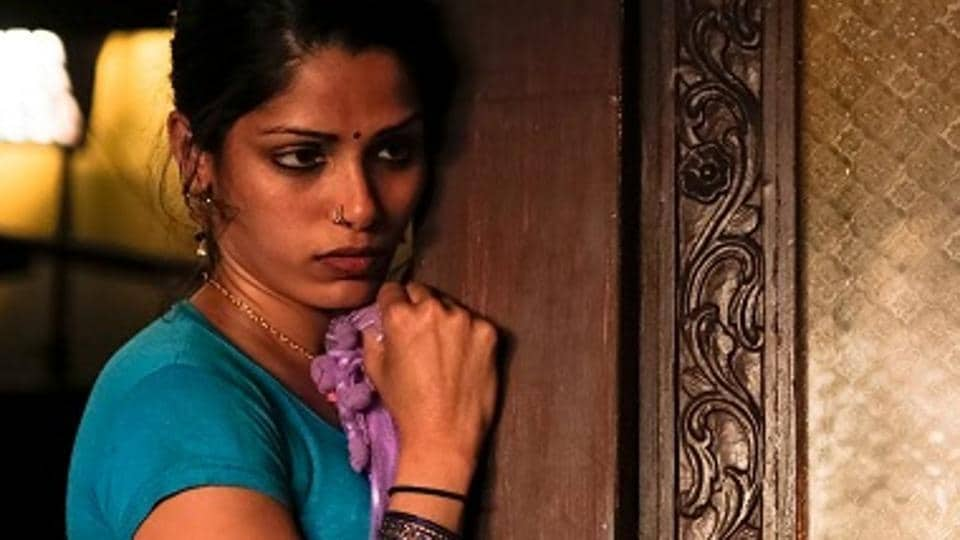 Freida Pinto in a still from Love Sonia.