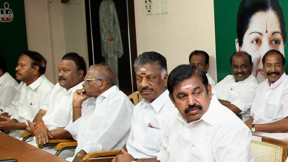 AIADMK is facing a string of rebellions since the death of party supremo J Jayalalithaa.