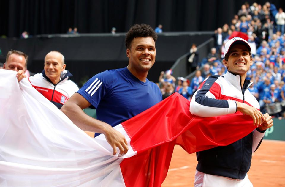 France, led by Jo-Wilfried Tsonga are going back to the Stade Pierre Mauroy in Lille for the Davis Cup tennis tournament final against Belgium, the venue where they beat Serbia 3-1 to reach the final.